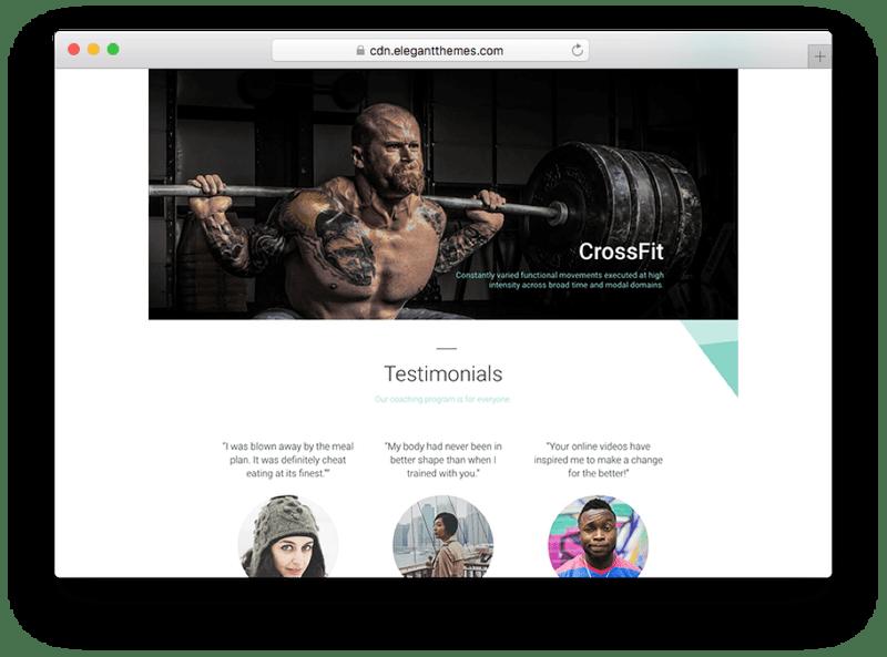 The Divi WordPress Crossfit Theme