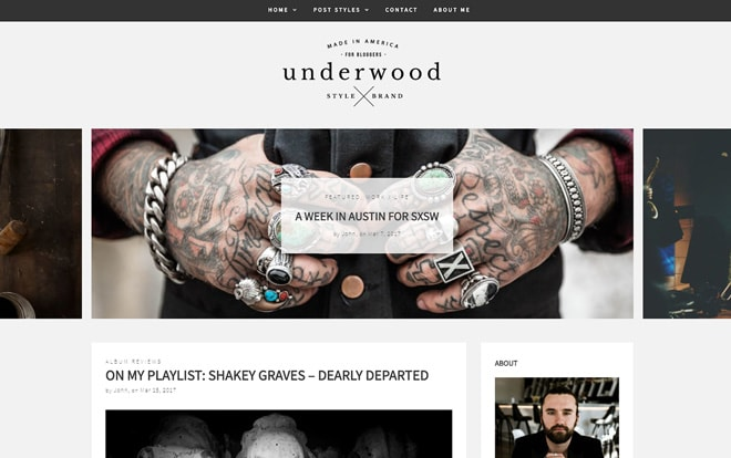 Underwood WordPress Theme