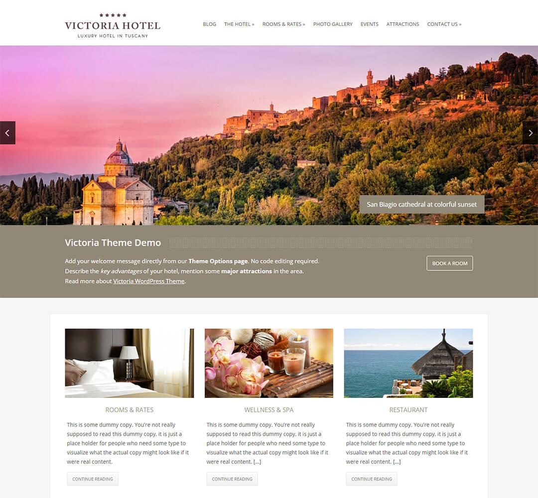 Victoria Hotel Business WordPress Theme