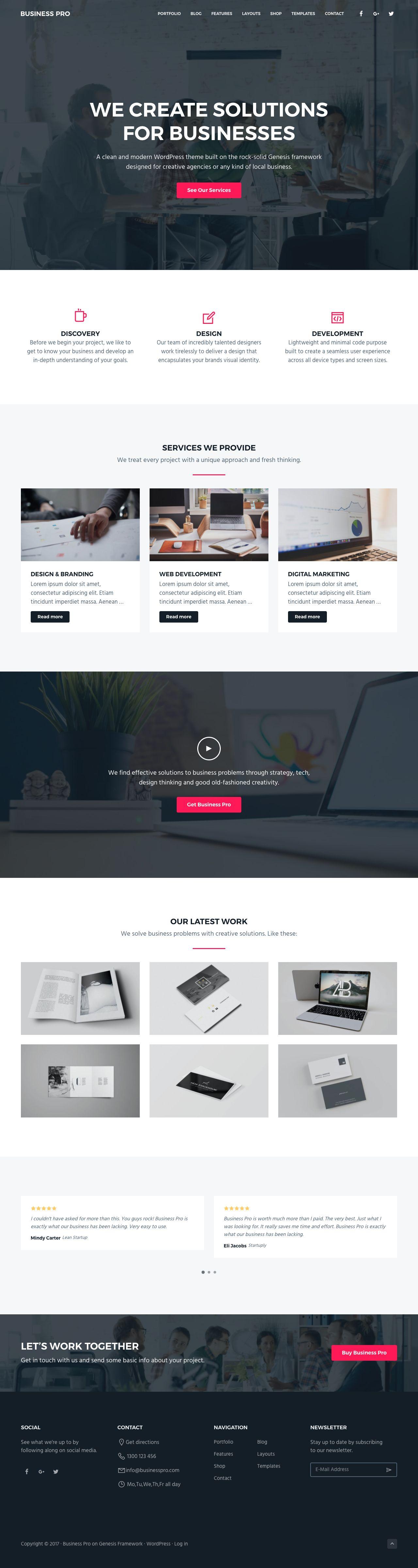 Business Pro WordPress Creative Agency Theme