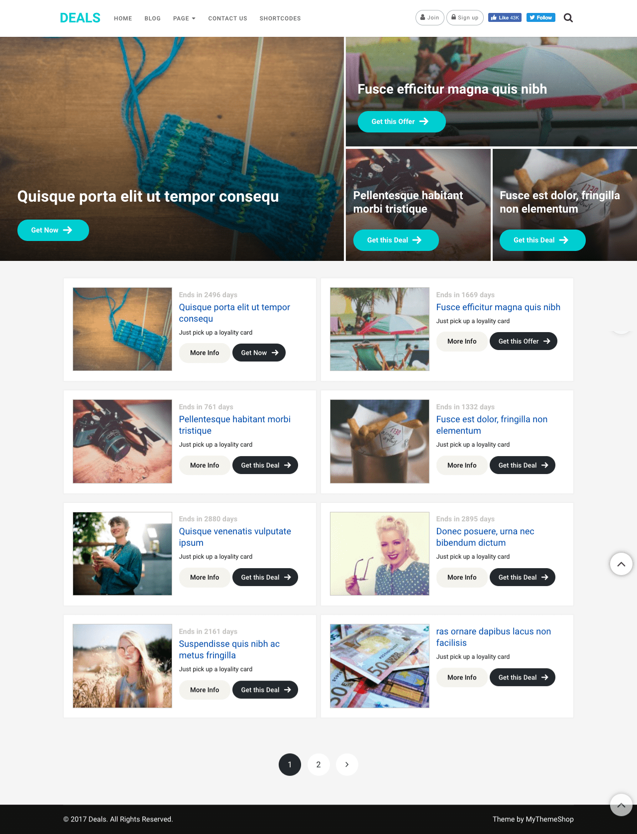 Dividend WordPress Deals Theme