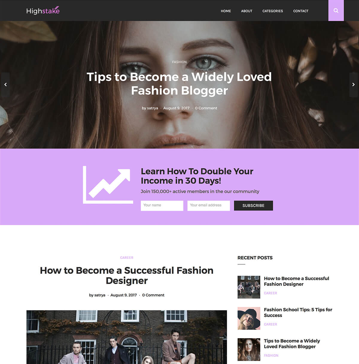 Highstake WordPress Theme for Digital Marketers