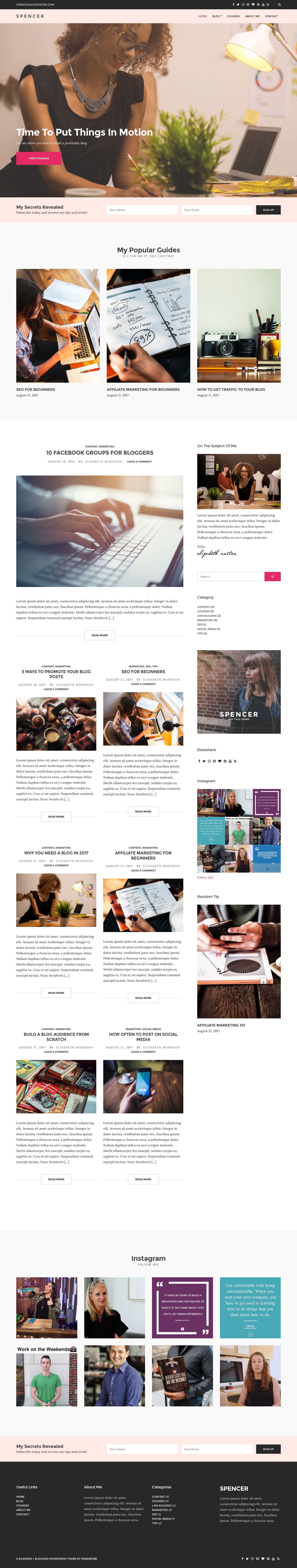 Spencer WordPress Entrepreneurs Theme