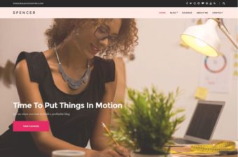 Spencer WordPress Theme for Digital Entrepreneurs