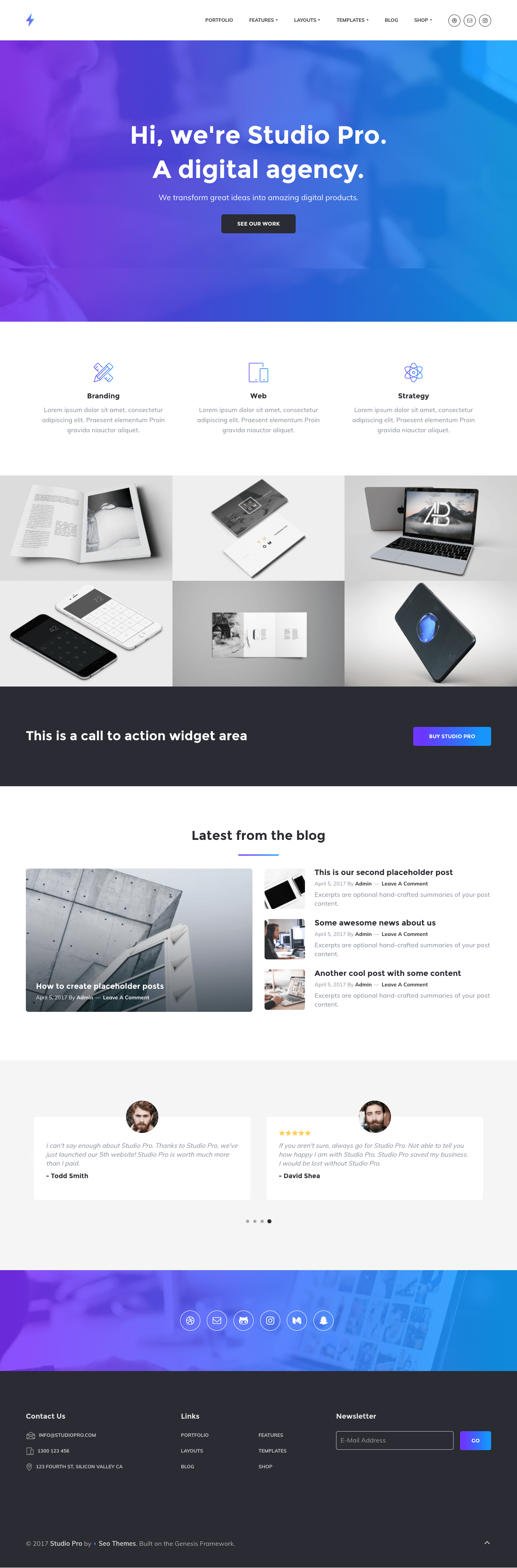Studio Pro WordPress Digital Agency Theme