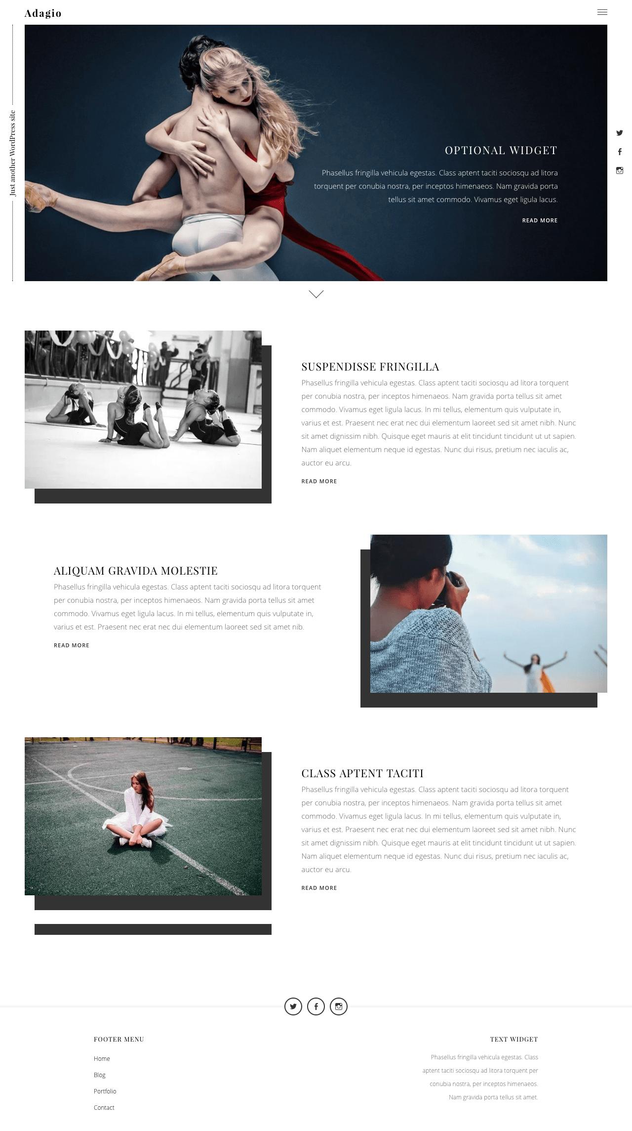 Adagio WordPress Theme