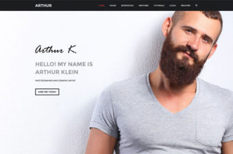Arthur WordPress Theme for Creative Designers!