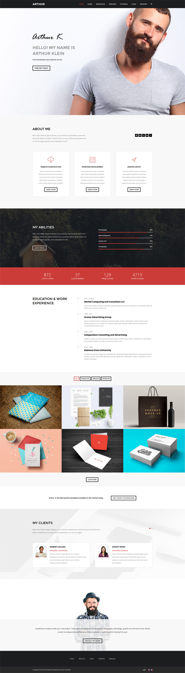 Arthur WordPress Theme