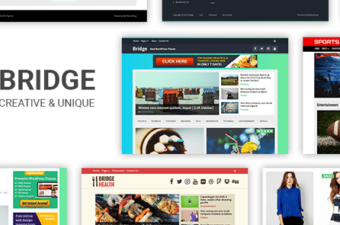 Bridge WordPress Theme for Sleek Magazine Blogs