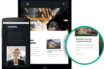 Build Out WordPress Theme for Construction Company