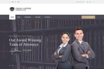 Legal Lawyer WordPress Theme for Advocates