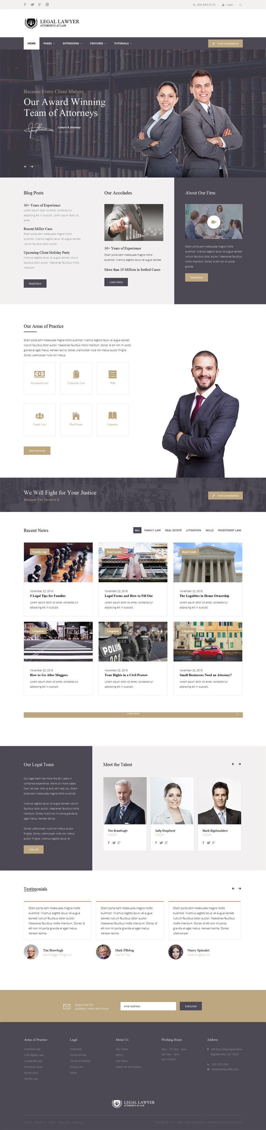 Legal Lawyer WordPress Theme