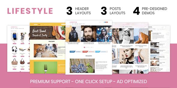 Lifestyle Magazine Portal WordPress Theme