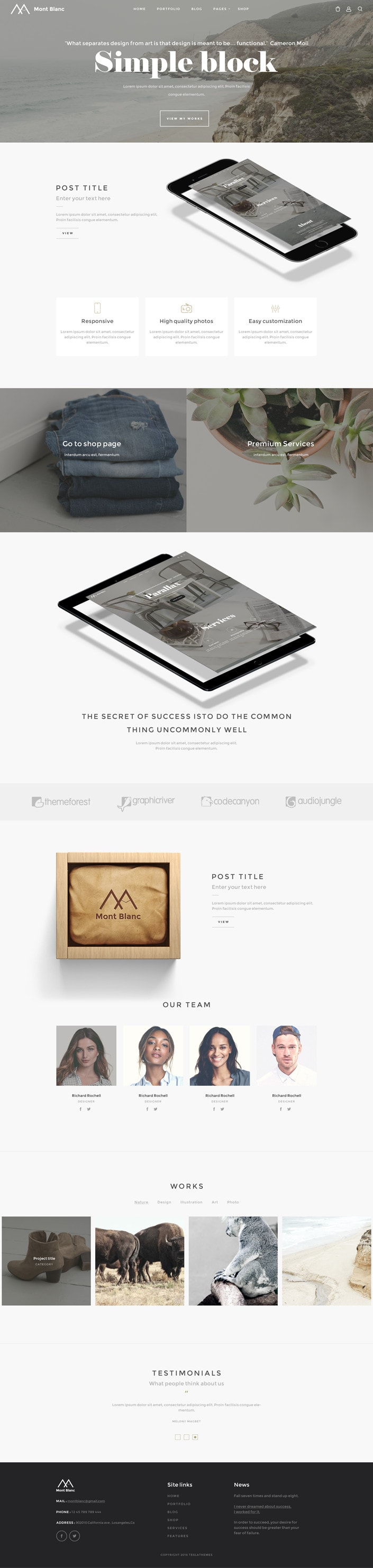 Montblanc WordPress Theme