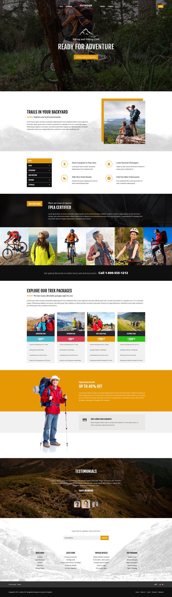 Outdoor Life WordPress Theme