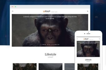 Wrap WordPress Theme for Videos