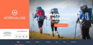 Adrenaline WordPress Adventure Activities Theme