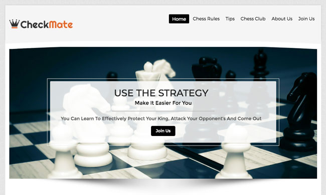 Checkmate WordPress Theme for Chess Club & Chess Player