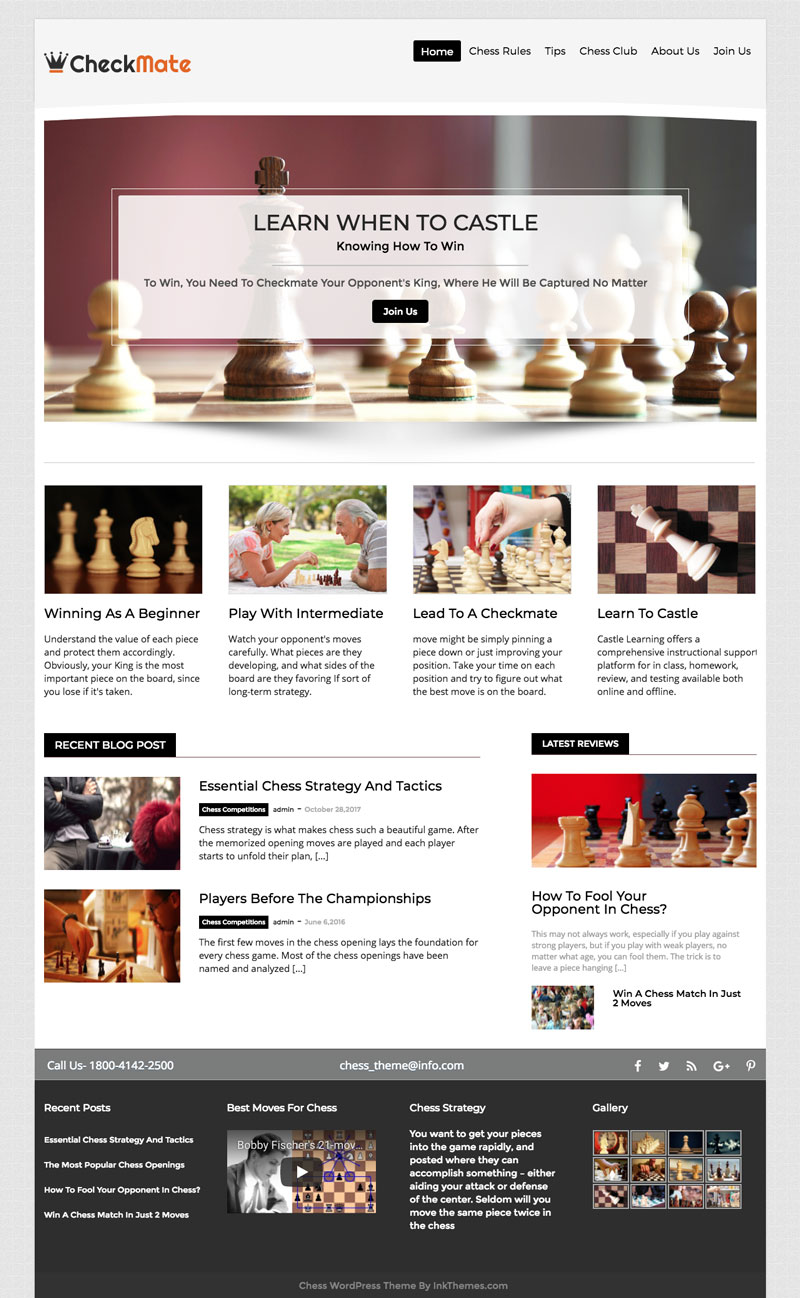Checkmate-WordPress-Theme