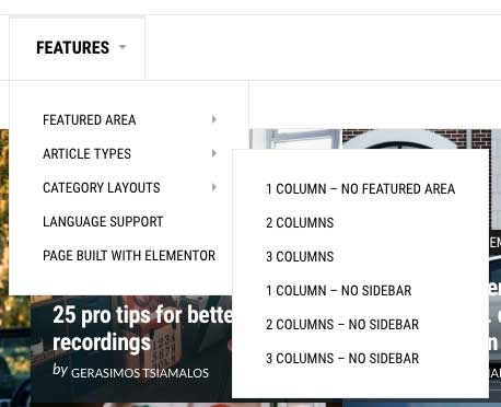 Custom Magazine Layouts Widgets