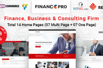 Finance Pro WordPress Theme for Consulting Firms!
