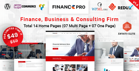 Finance Pro - Finance Business Consulting WordPress Theme