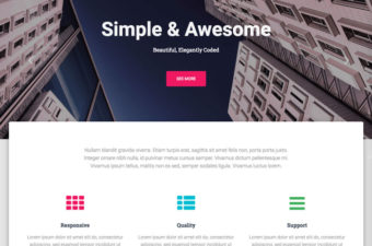 Hestia Pro WordPress Theme for One Page Design