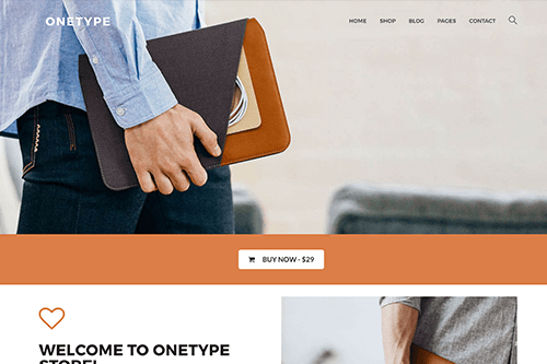 OneType eCommerce WordPress theme