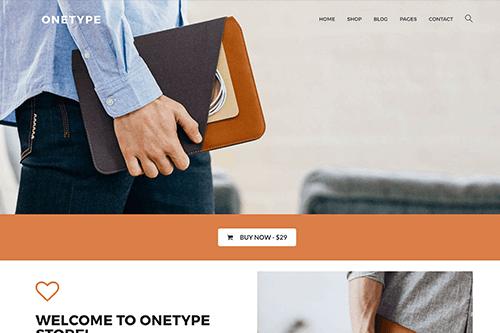 OneType eCommerce WordPress theme