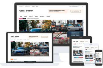 Public Opinion WordPress Theme for Magazine Portal