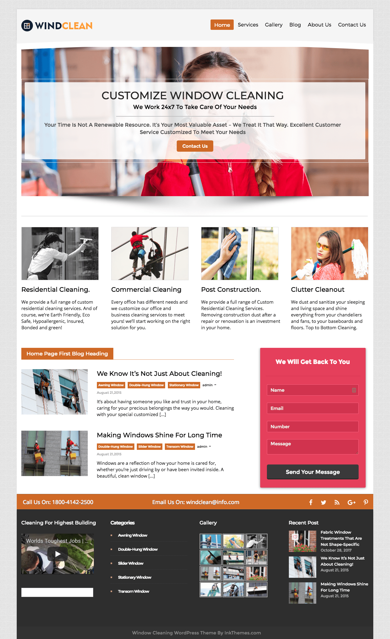 WindClean WordPress Theme
