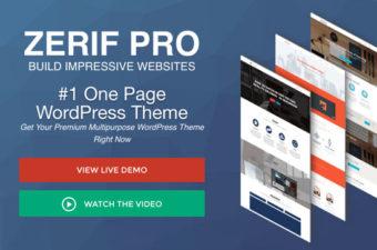 Zerif Pro WordPress Theme for One Page Websites