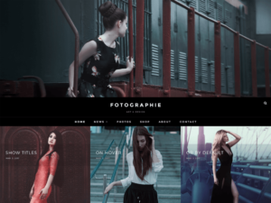 Fotografie Free WordPress Photography Theme