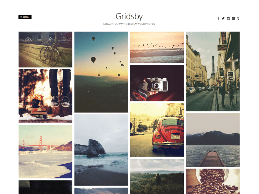 Gridsby Free WordPress Pinterest Style Theme