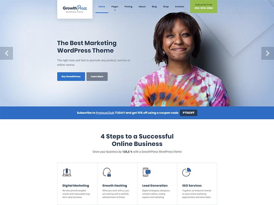 GrowthPress WordPress Theme for SEO & Digital Marketing Business