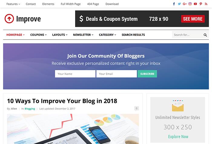 Improve WordPress Theme