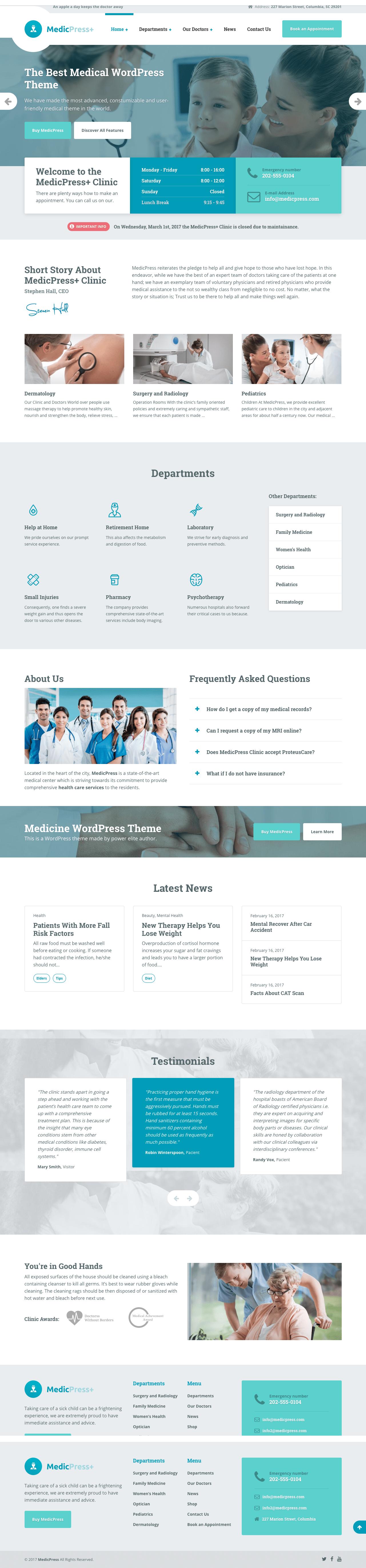 MedicPress WordPress Medical Business Theme
