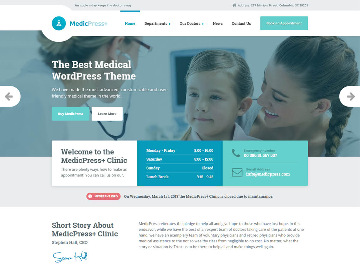 MedicPress WordPress Theme