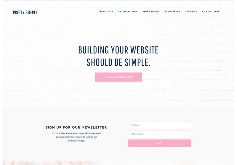 Pretty Simple WordPress Theme for Women, Feminine & Girls