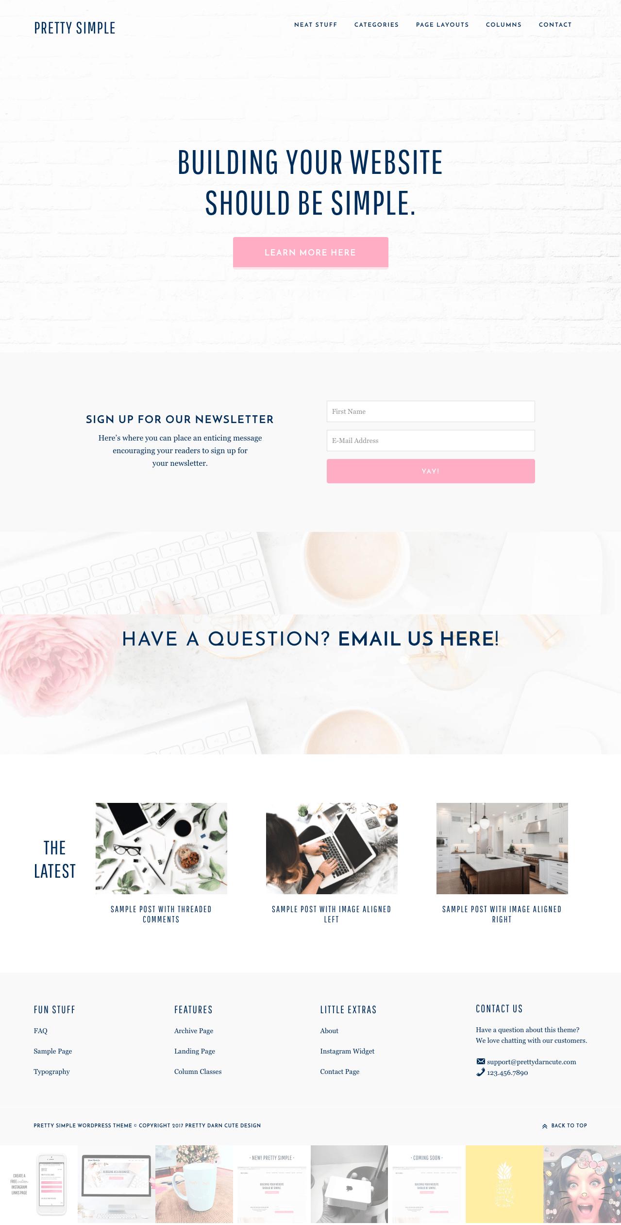 Pretty Simple WordPress Women Theme