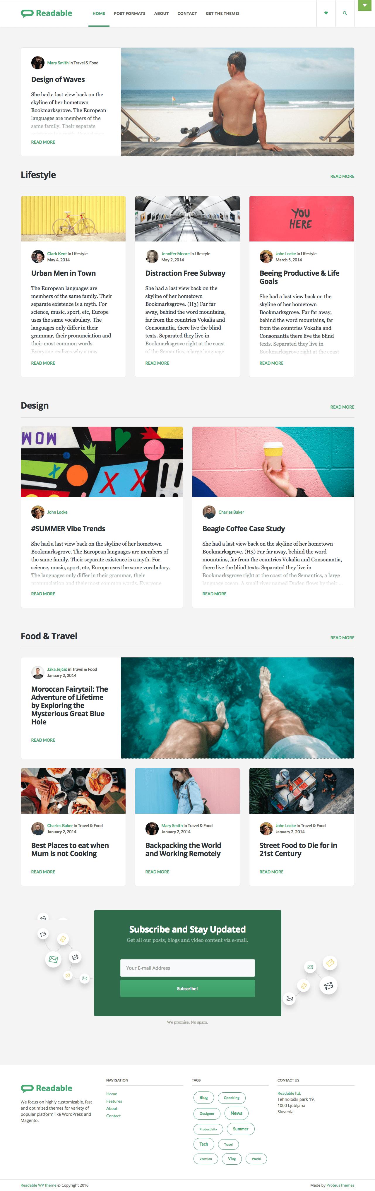 Readable WordPress Blog Theme