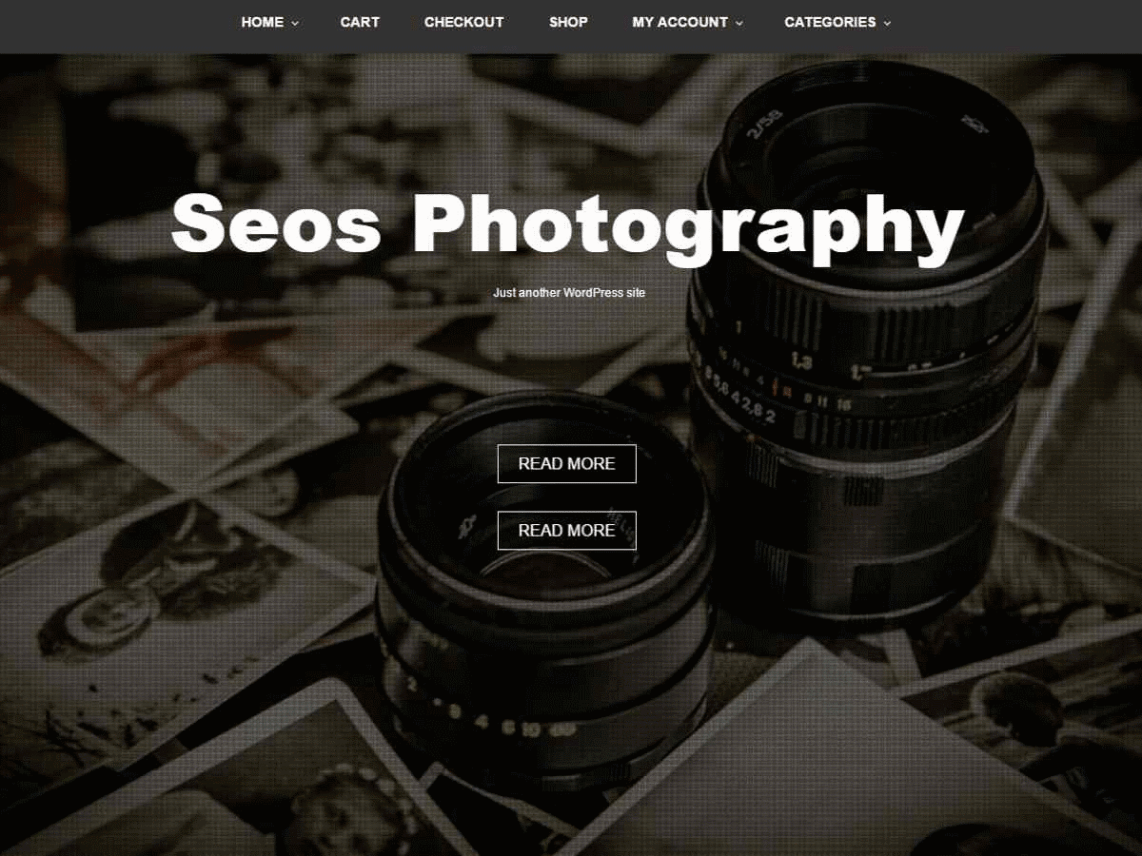 Seos Photography WordPress Theme