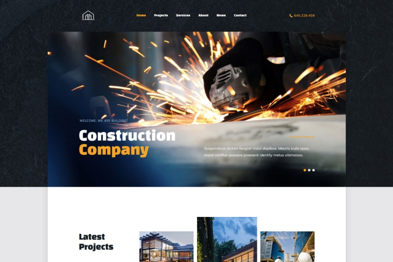 Base Ground WordPress Theme for Construction Company