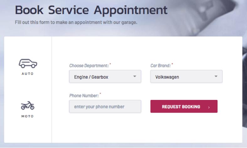 Book Car Repair Service Appointment