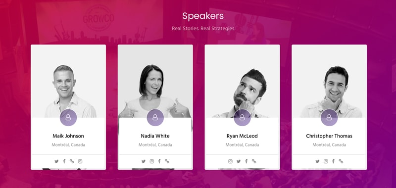 Business Conference Speaker Profiles