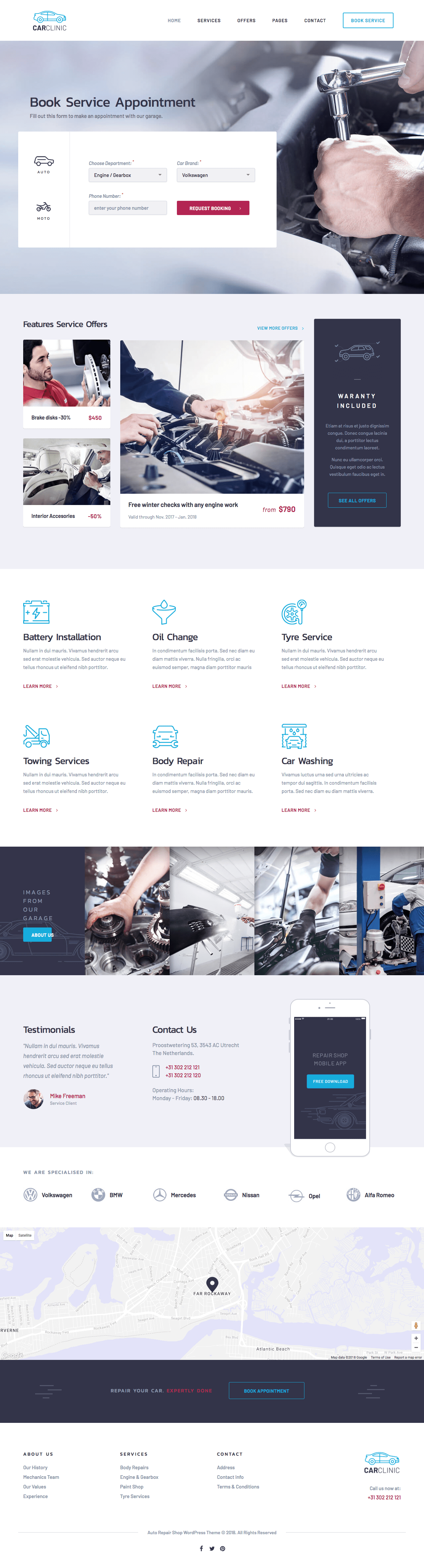 Car Clinic WordPress Theme for Auto Repair Shop