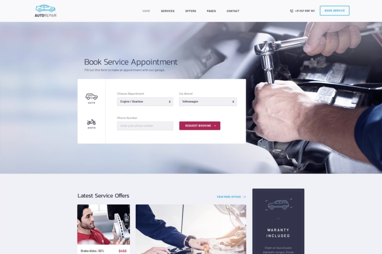 Car Clinic - Car Repair Shop WordPress Theme & Mechanic Workshops