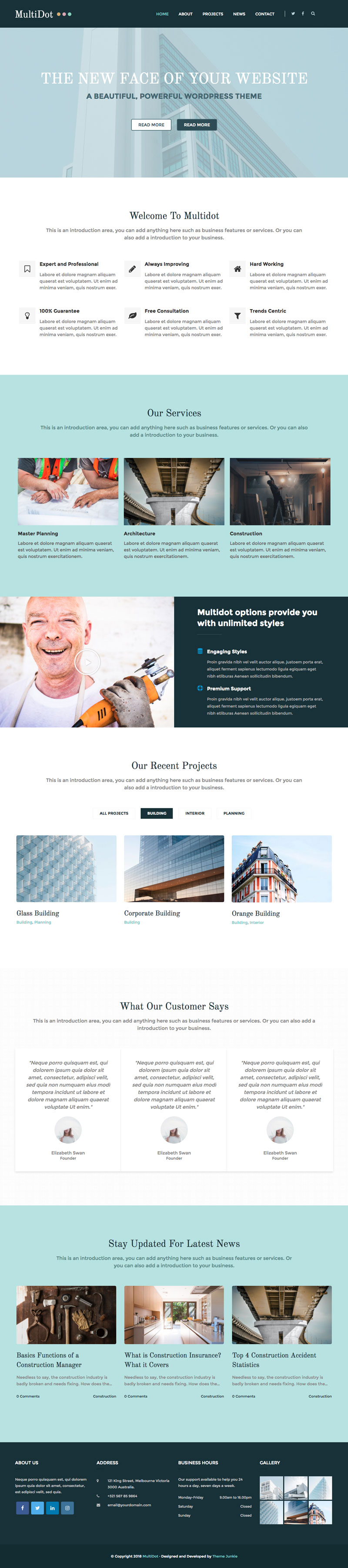 MultiDot WordPress Theme