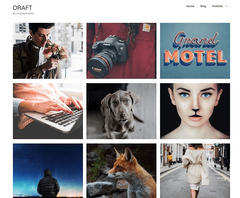 Draft Portfolio Free Photographer Theme