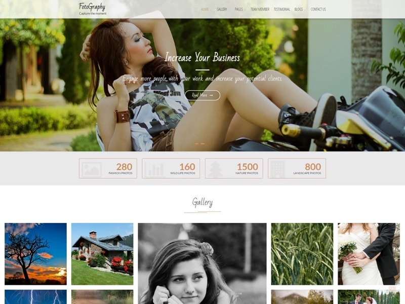 FotoGraphy Free WordPress Photo Theme